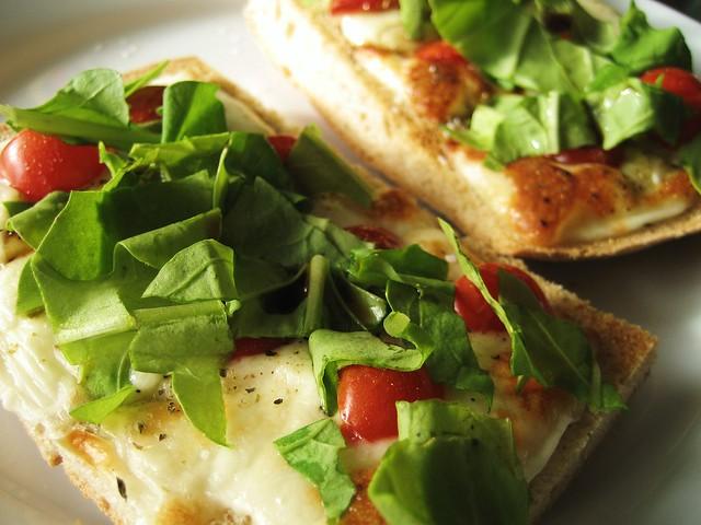 leftovers to lunch, starring arugula | A quick focaccia brea ...