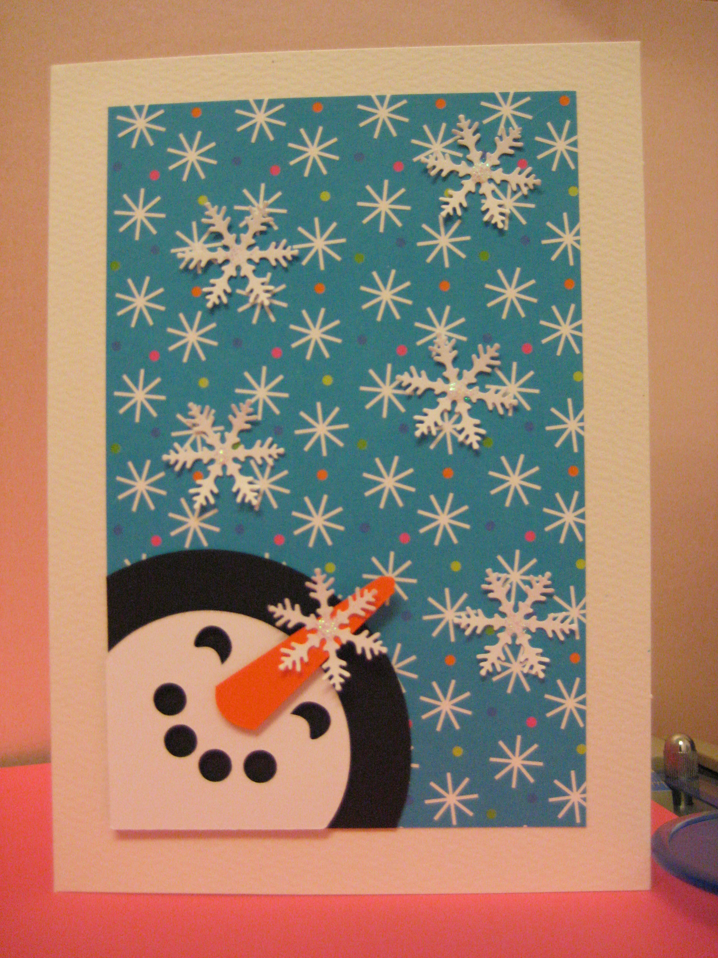 handmade christmas card snowman flickr photo sharing