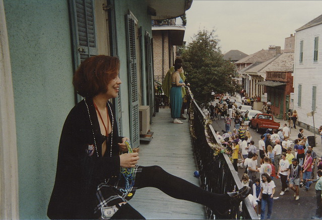 Mardi Gras Day French Quarter Balcony2