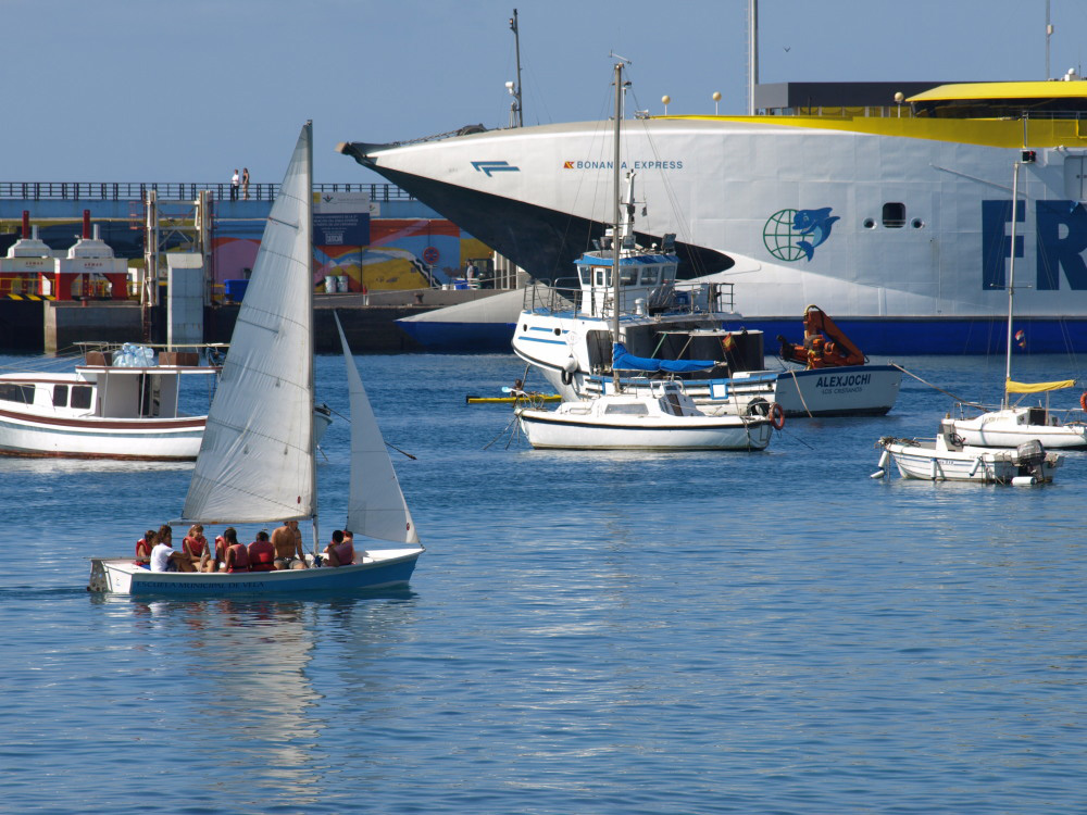 Visitors 39 guide to the resort of los cristianos in the for Deep sea fishing santa cruz