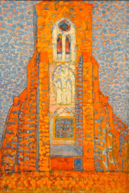 piet mondrian sun church in zeeland zoutelande church facade 1910 at tate modern