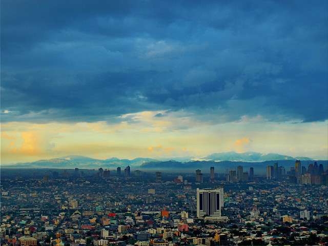 Mountains behind Makati City - Manila, Philippines