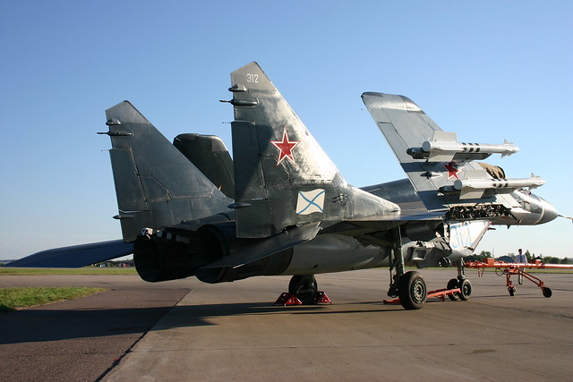 MIG-29K during russian airshow MAKS 2005