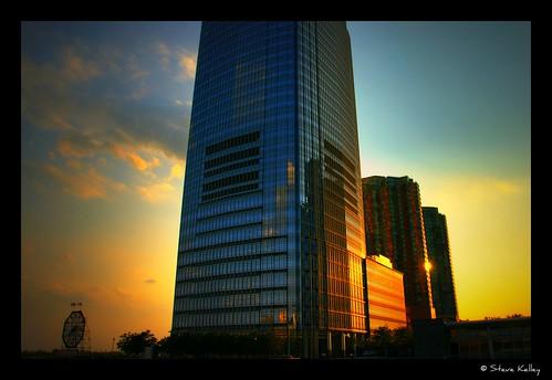 sunset building tower clock skyline geotagged newjersey twilight nikon jerseycity view nj colgate hdr d300 skyscrape goldmansachs colgateclock paulushook mudpig stevekelley
