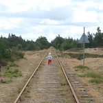 Old railway track in Holmsland