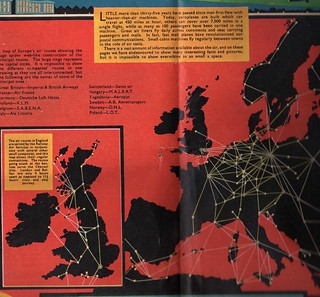 European Air travel map 1938