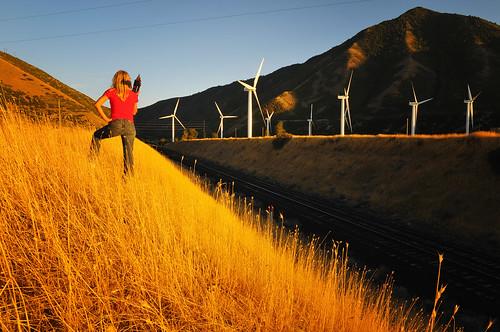 railroad sunset red woman windmill beautiful nikon farm tracks fork spanish d300