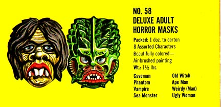 Deluxe Adult Horror Masks