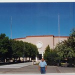 Stephen in front of the New Mexico State Capitol