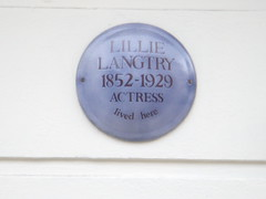 Photo of Lillie Langtry blue plaque