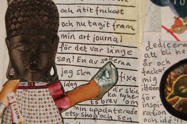 Art Journal writing - detail