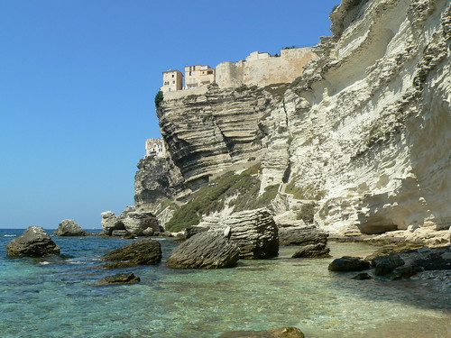 Falaise de Bonifacio en Corse