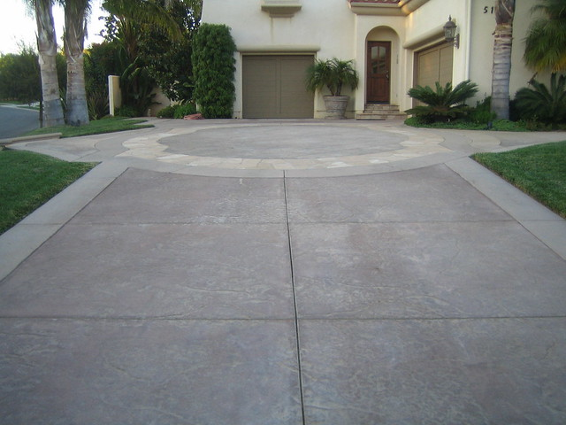 Stamped Concrete With Acid Washed Boarder Flickr Photo