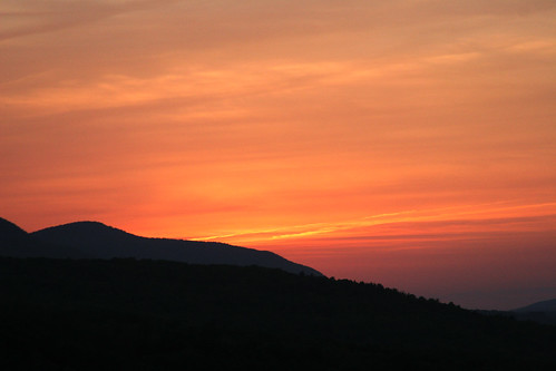 sunset catskillmountains