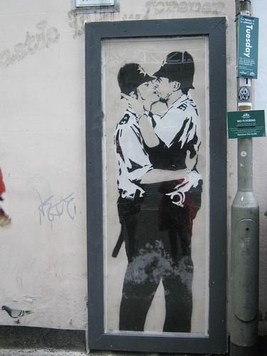 Kissing cops