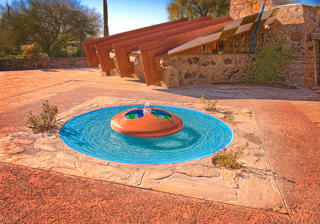 "Frank Lloyd Wright: Taliesin West ""Boiler"" Fountain"