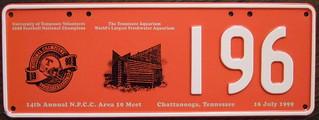 N.P.C.C. 1999 14TH ANNUAL NORTH AMERICAN MEET souvenir license plate