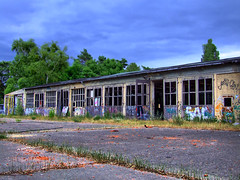 Small repair barracks, outside view (HDR)
