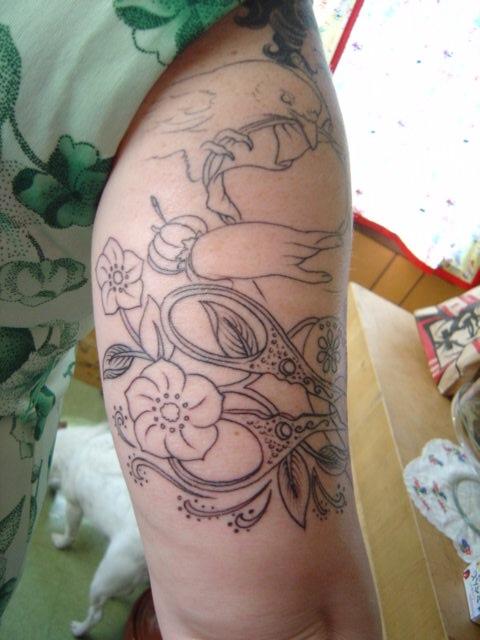 back of tattoo