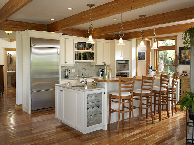 39280 kitchen in cape cod style lindal home flickr for Cape cod kitchen ideas