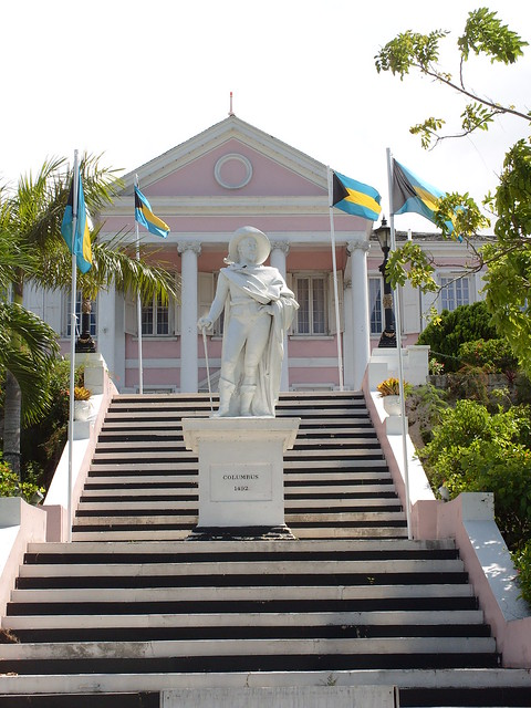 2008 Christopher Columbus statue in front of the ...