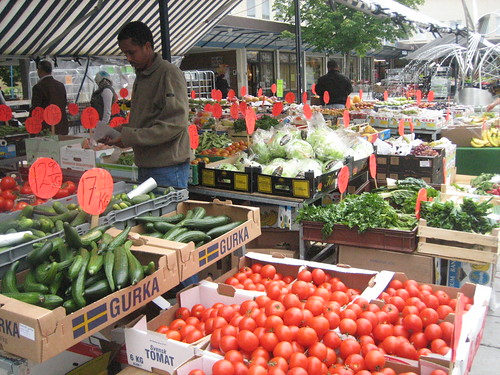 Vegetable market in Rinkeby