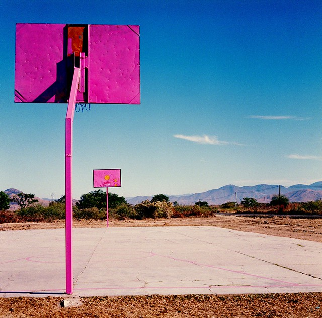 Oaxaca, Mexico basketball court