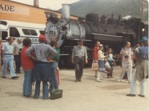 Durango & Silverton Railroad Baldwin steam locomotive # 481 at the Silverton Colorado depot. July 1981. by Eddie from Chicago