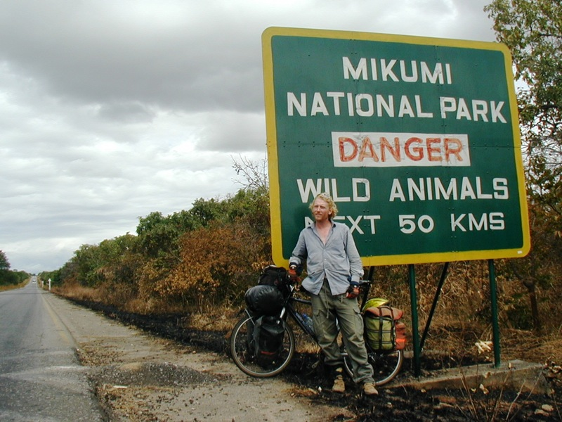 Danger - wild animals next 50km. Mikumi national park, Tanzania