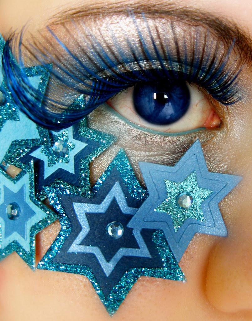 Если создается макияж для серо-голубых глаз, обладательница которых смуглокожая...
