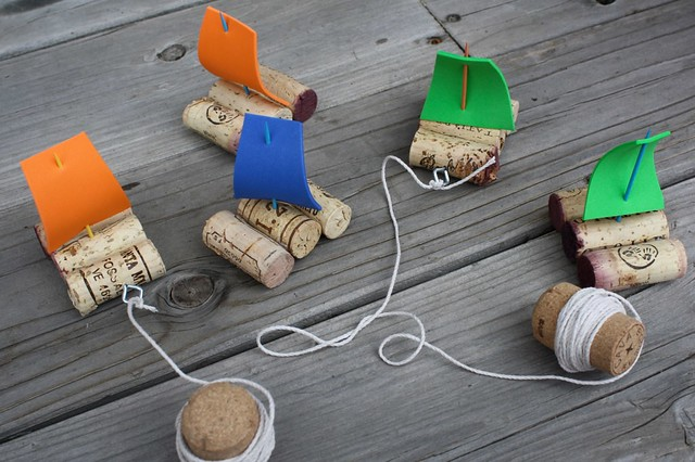 recycling ideas and tutorial cork boat tutorial crafts