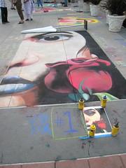 art, chalk, street art, mural,