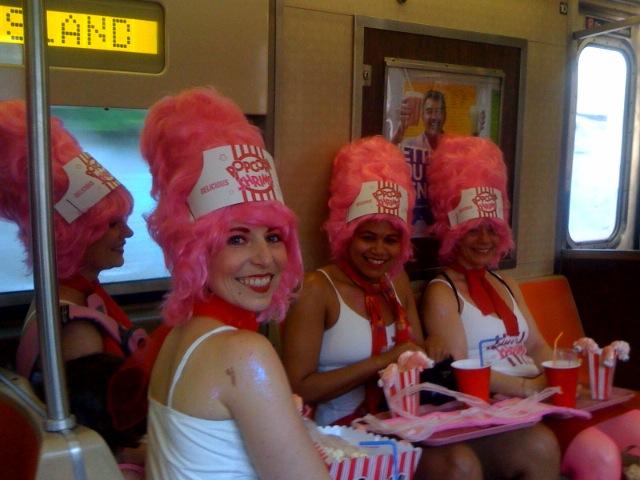 Mermaid Parade - Ladies dressed as Popcorn Shrimp