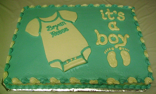 Onesie Baby Sheet Cake How To
