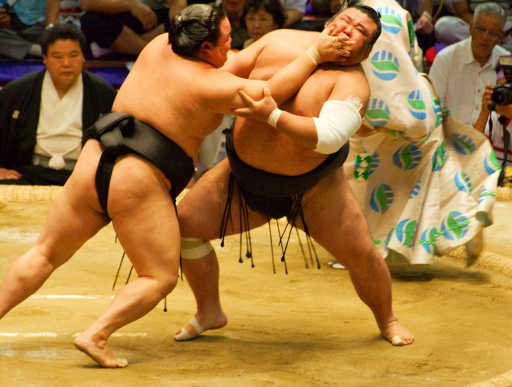 Sumo match 本場所 Nagoya Japan 2008