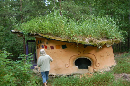Cob Cottage with Living Roof
