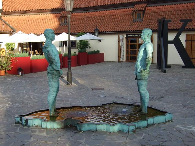 Proudy (aka the 'Piss' Sculpture) by David Černý, Prague