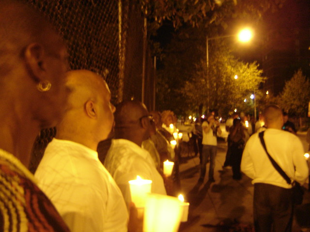 Vigil for Tony Randolph Hunter 9/27/08