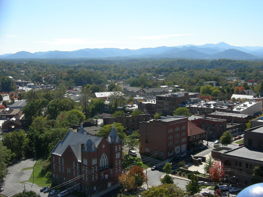 View of Asheville from above