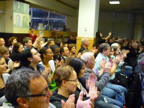 Audience applauding Stephen Schwartz