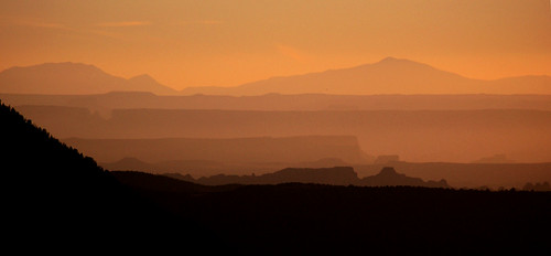 sunset orange utah desert dusk moab