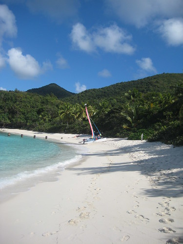 beach st john islands sand perfect heaven paradise sailing getaway virgin catamaran footsteps british denis hobie bvi usvi sailsafaris