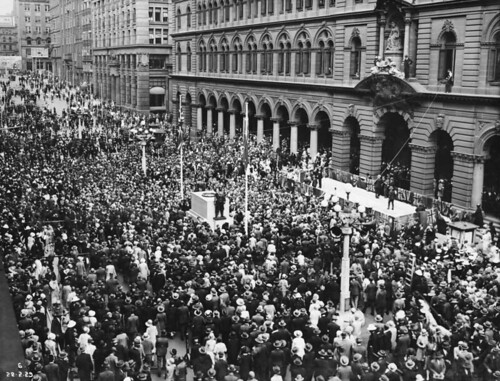 Unveiling of the Cenotaph in Martin Place, 1929