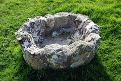 Pevensey Castle - Remains of the font