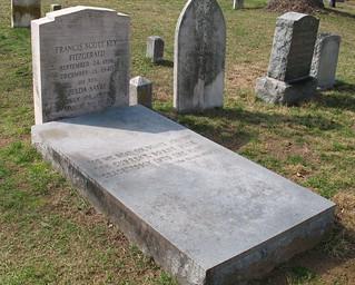 Image of F. Scott Fitzgerald. cemeteries graveyards headstones maryland graves tombstones gravestones rockville authors fscottfitzgerald montgomerycounty stmaryscemetery zeldafitzgerald saintmaryscemetery