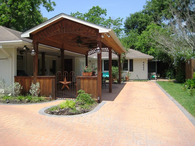 free standing carport with paver driveway flickr photo. Black Bedroom Furniture Sets. Home Design Ideas