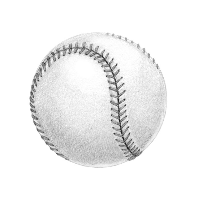 how to draw baseball sketch
