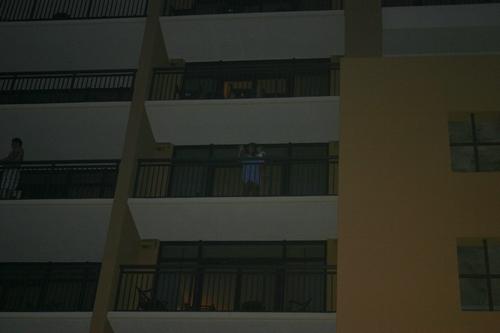 Me & Karli on our balcony