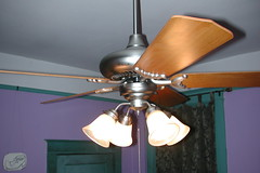 light fixture, ceiling fan, ceiling, mechanical fan, iron, lighting,