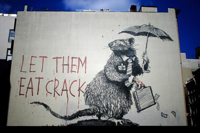 Banksy Rat Mural Let Them Eat Crack On Broadway Amp Howard